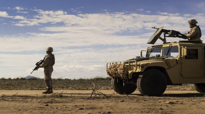 Soldados marinhos da patrulha fotografia de stock