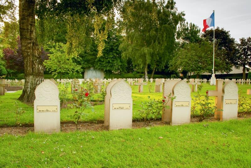 Soldados muçulmanos da lápide matados na Primeira Guerra Mundial fotos de stock