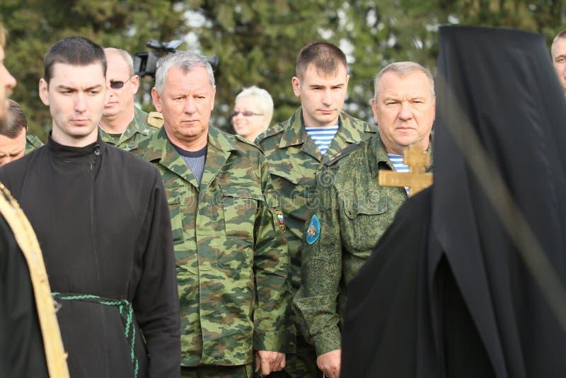 Soldados não identificados durante exercícios de cargo de comando com divisão aerotransportada de 98 protetores do th imagens de stock