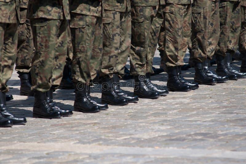 Soldados na formação imagem de stock royalty free