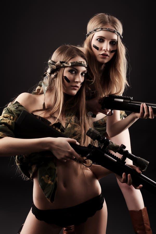 Soldados 'sexy' imagem de stock royalty free