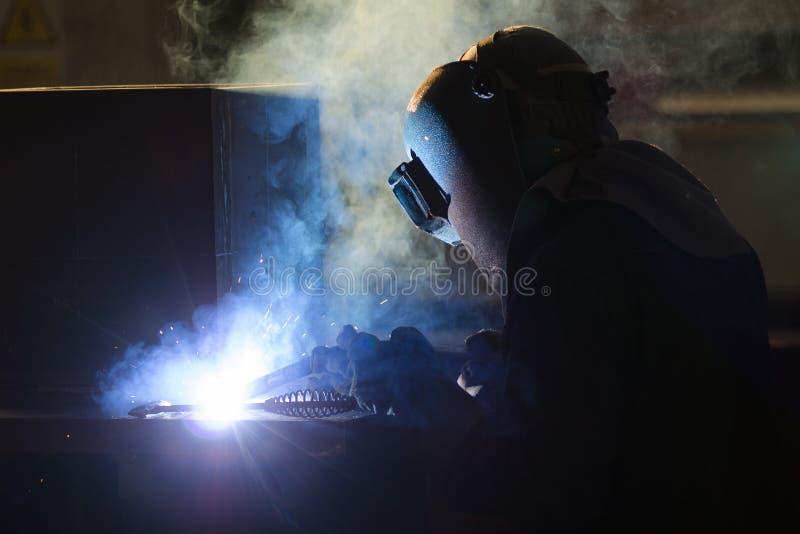 Soldadura de aço imagens de stock