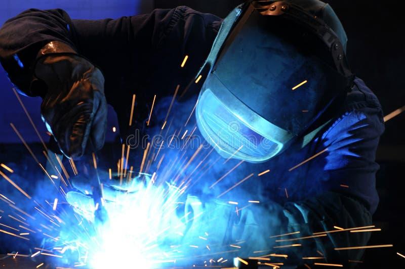 Soldadura industrial fotografia de stock royalty free