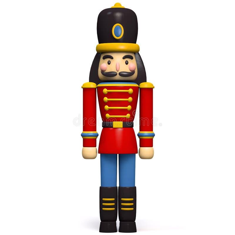 Soldadura Toy Christmas Character del cascanueces stock de ilustración