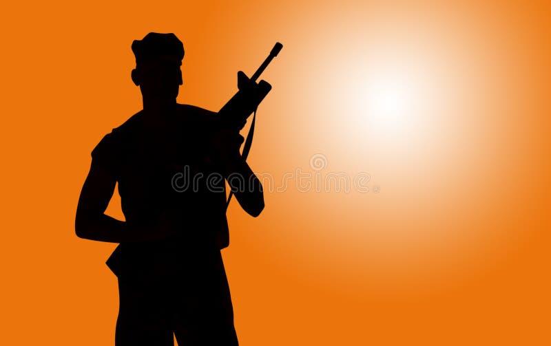 Soldat vektor abbildung