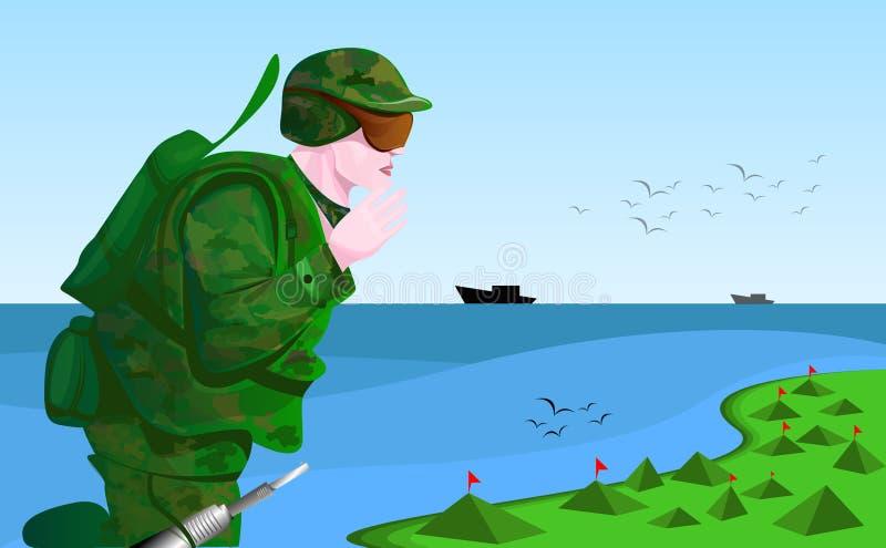 Soldat illustration libre de droits