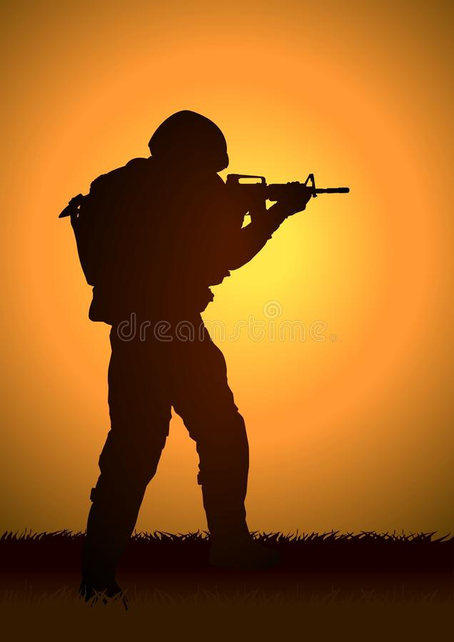 Soldat illustration stock