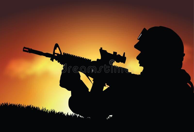 Soldat illustration de vecteur