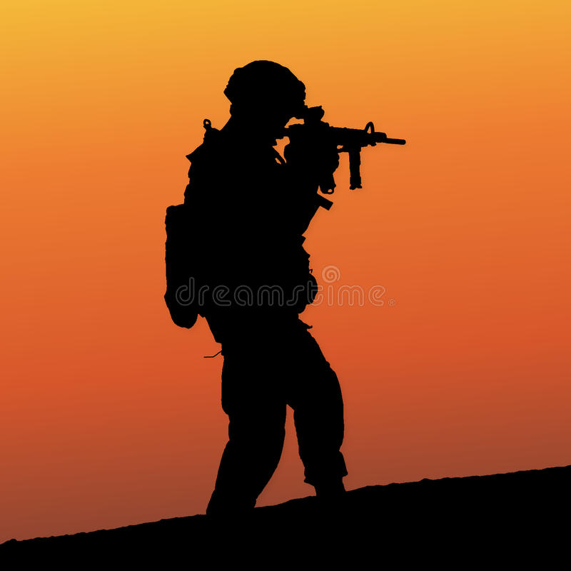 Soldat stock illustrationer