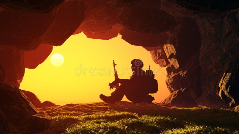 soldat stock illustrationer