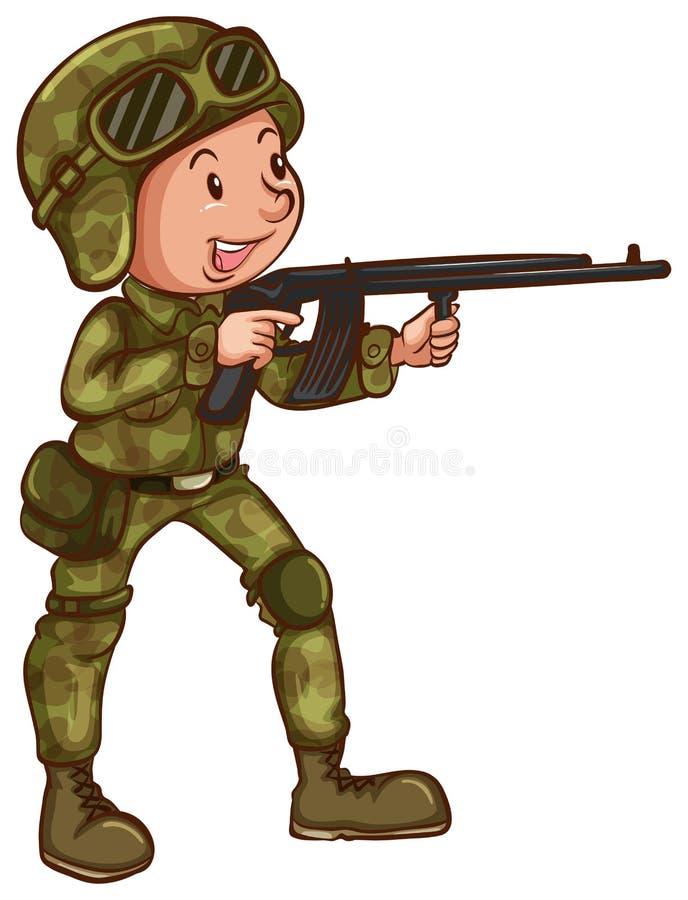 Download Soldat illustration de vecteur. Illustration du troupes - 45366109