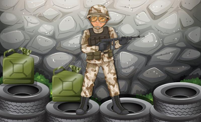 Download Soldat illustration de vecteur. Illustration du defence - 45366208
