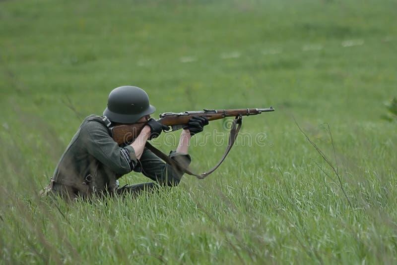 Soldat allemand. images libres de droits