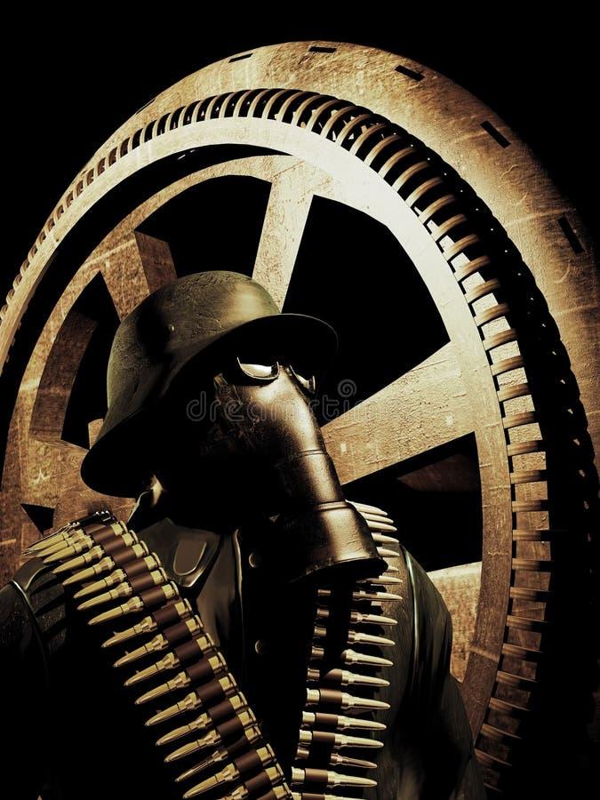 Soldat allemand illustration de vecteur