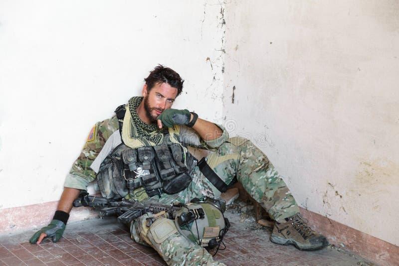Soldat américain fatigué photo libre de droits