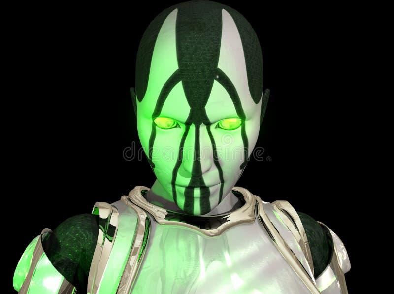 Soldat avancé de cyborg illustration stock