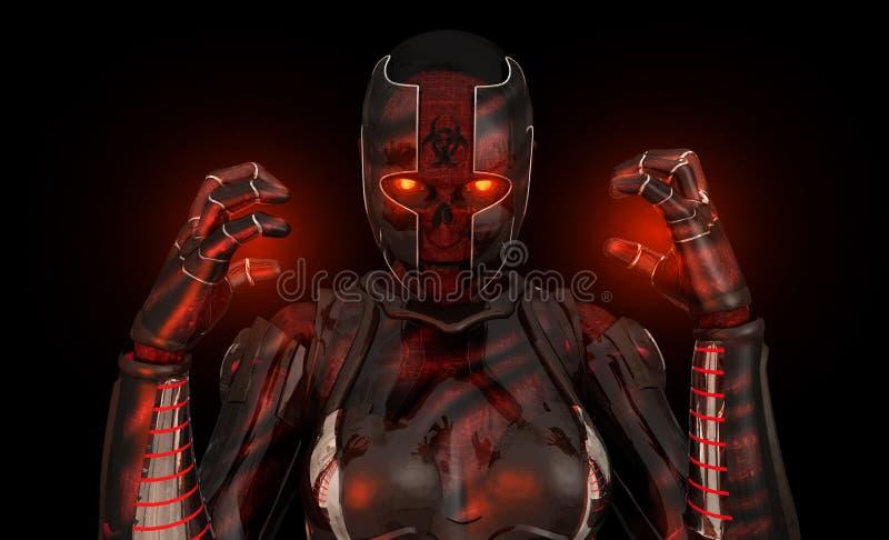 Soldat avancé de cyborg illustration libre de droits