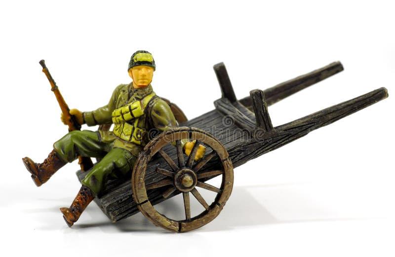 Soldat blessé photographie stock