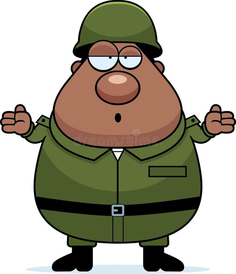 Soldat confus illustration de vecteur