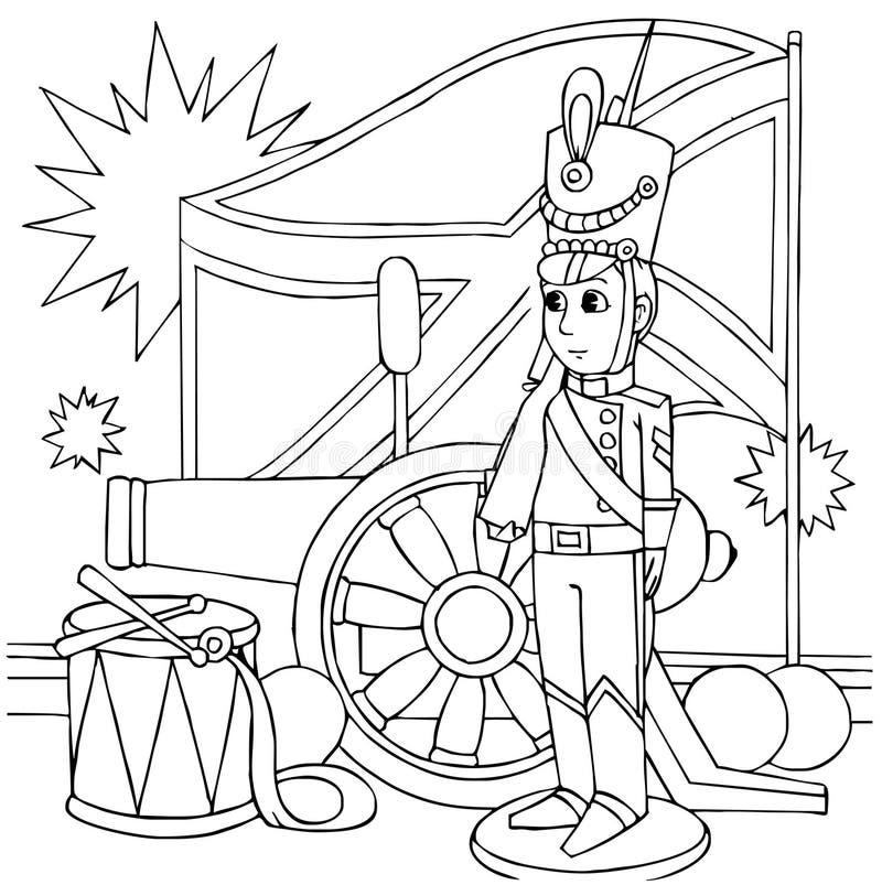 Soldat continuel de bidon illustration de vecteur