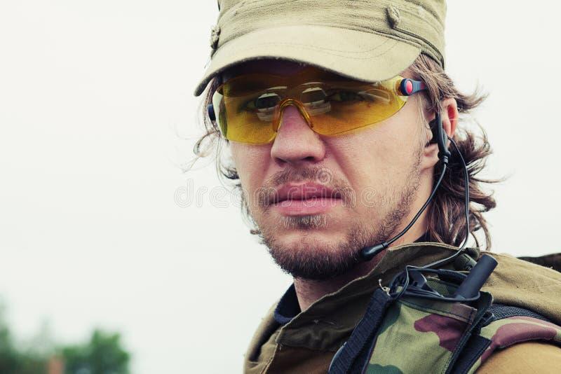 Soldat courageux image stock