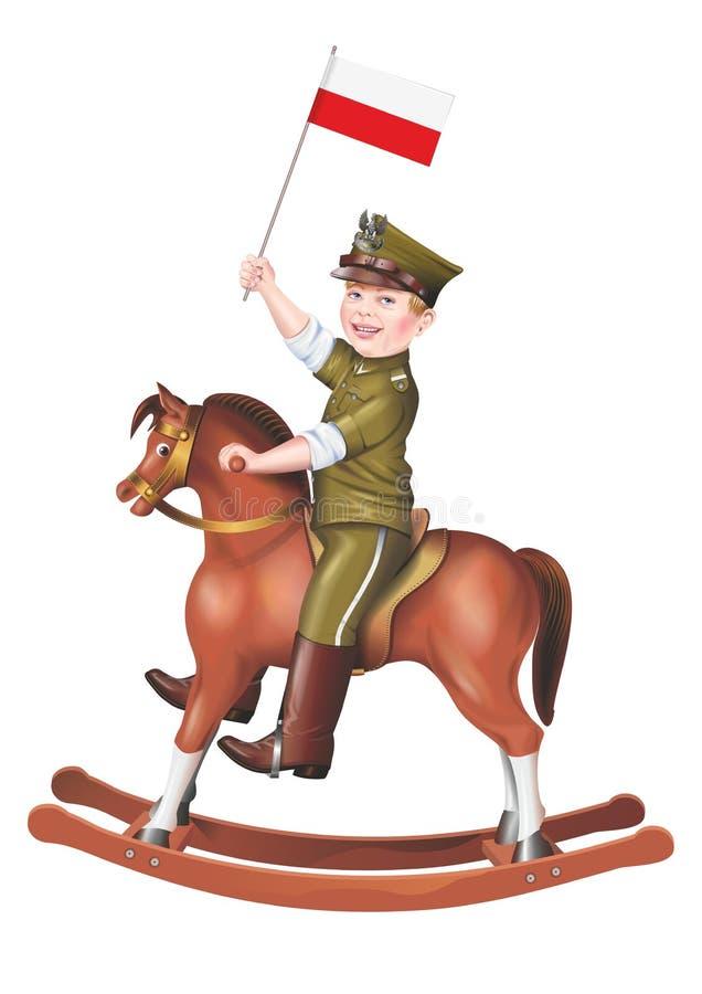 Soldat d'enfant sur le basculage illustration libre de droits