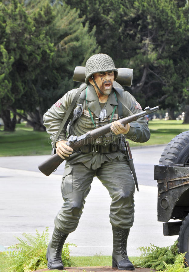 Soldat d'infanterie d'armée image stock