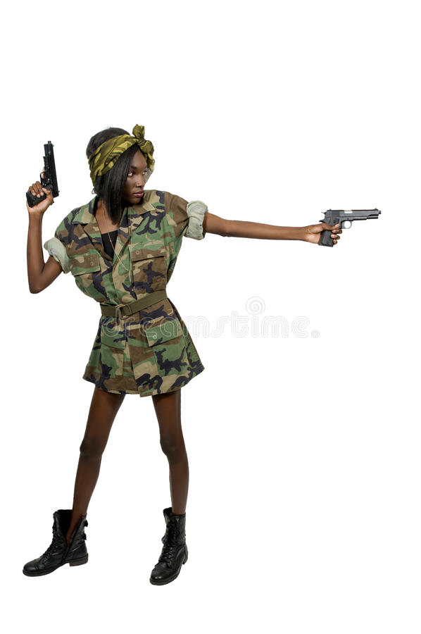 Soldat de femme image libre de droits