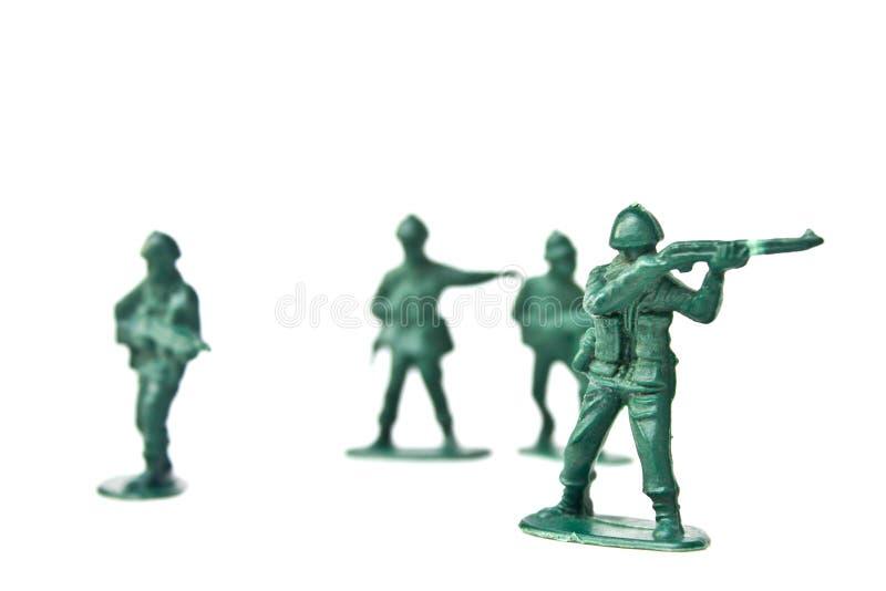 Soldat de jouet miniature images stock