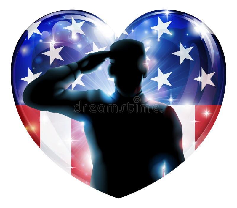 Soldat de jour de vétérans ou concept du 4 juillet illustration libre de droits