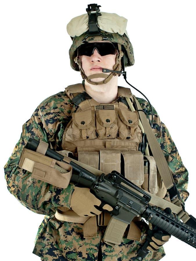 Soldat de marine des USA image stock