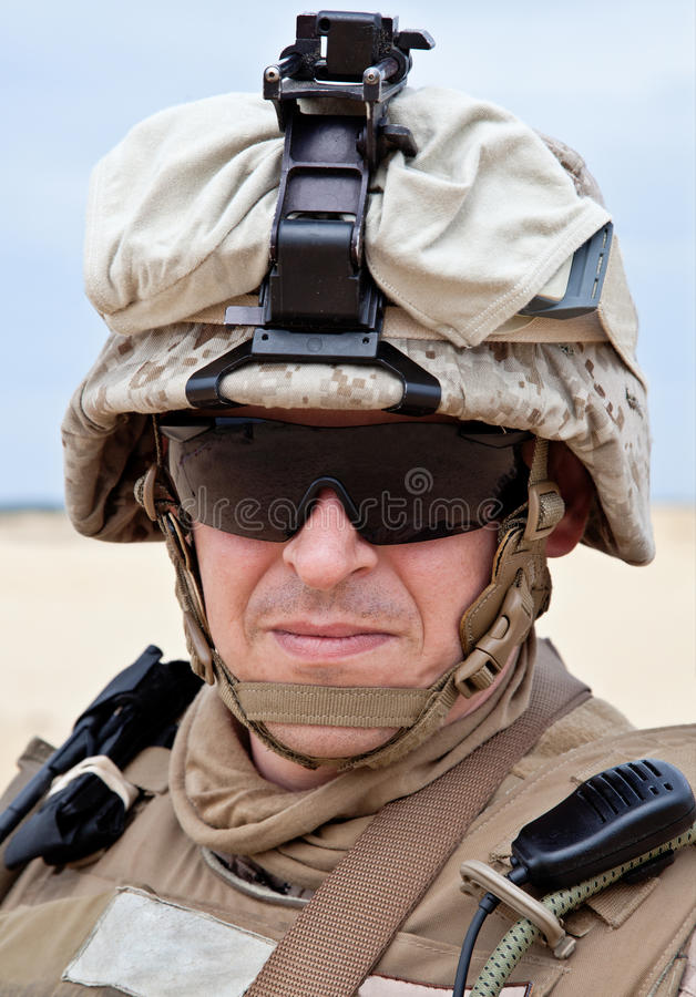 Soldat de marine des USA photos libres de droits
