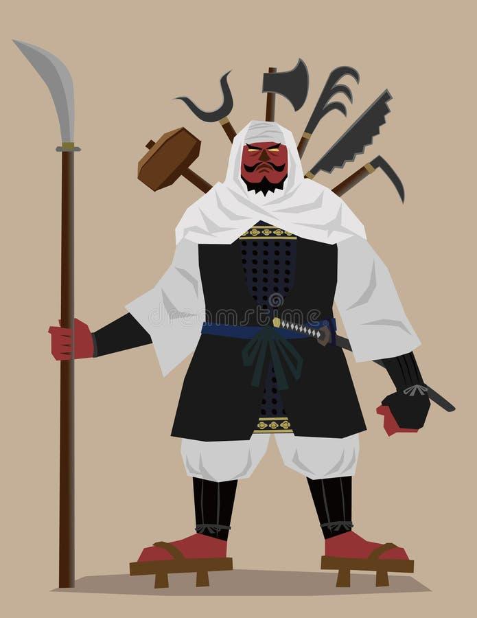 Soldat de moine illustration de vecteur