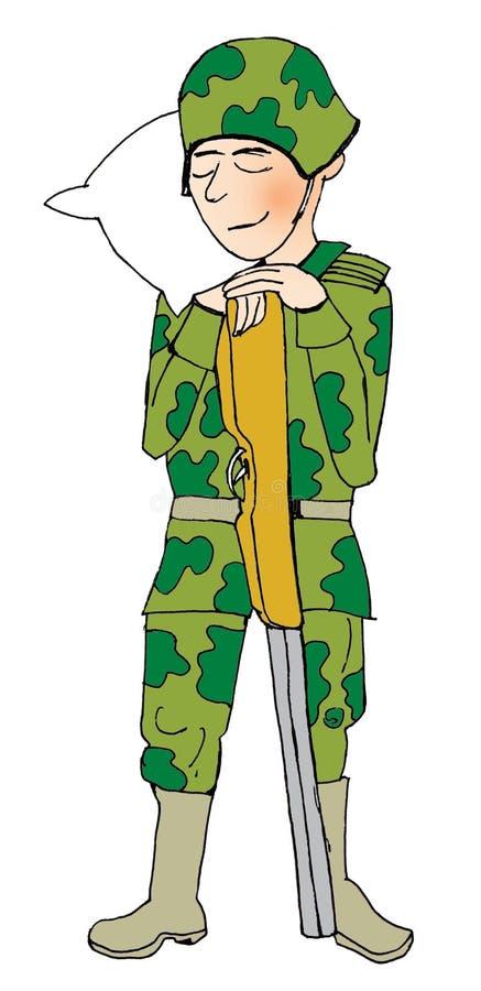 Soldat de sommeil illustration stock