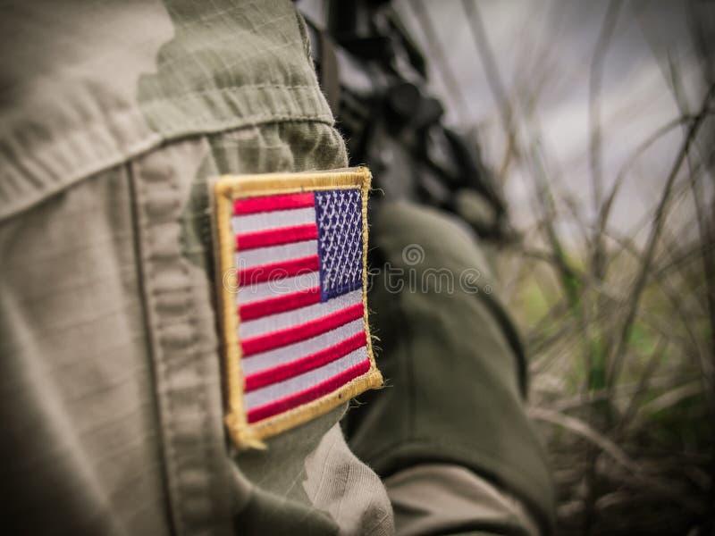 Soldat der AMERIKANISCHEN ARMEE lizenzfreie stockfotografie