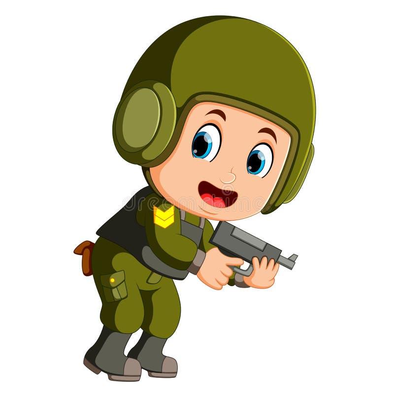 Soldat der besonderen Kraft stock abbildung
