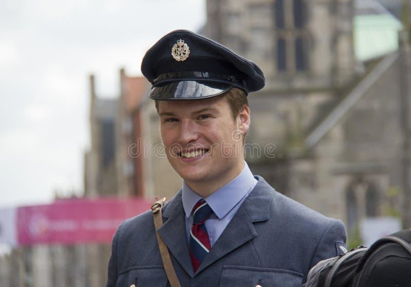 Soldat an der Edinburgh-Festival-Franse lizenzfreie stockfotografie