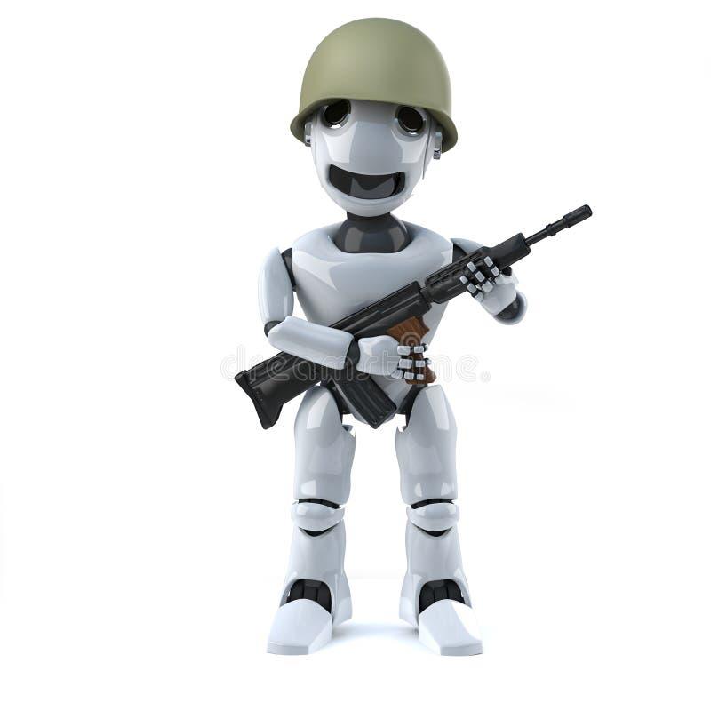 Soldat des Roboters 3d vektor abbildung