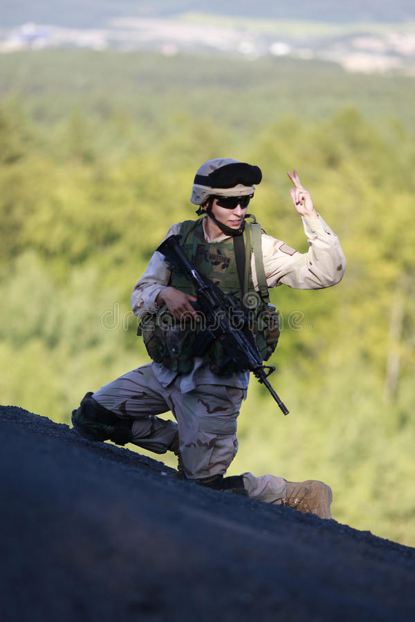 Soldat des USA photographie stock libre de droits