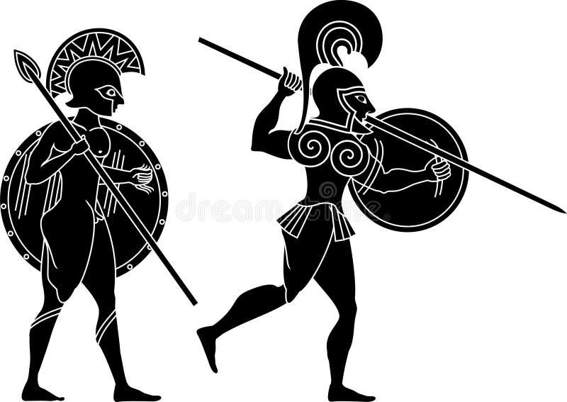 Soldat du grec ancien illustration libre de droits