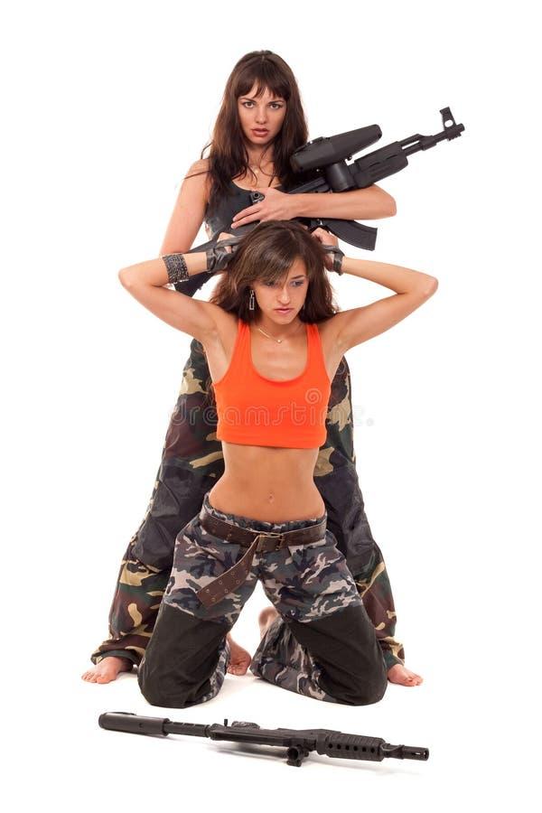 Soldat et captif images stock