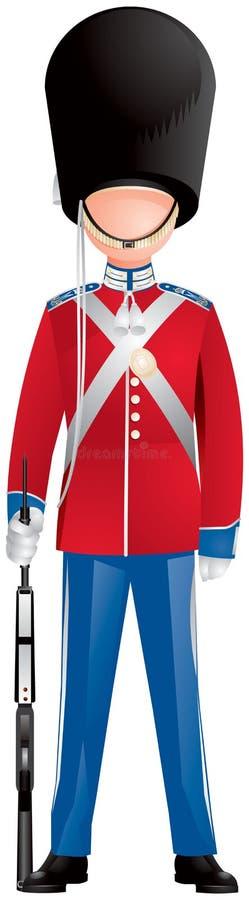 Soldat för Danmark kunglig livvakt stock illustrationer