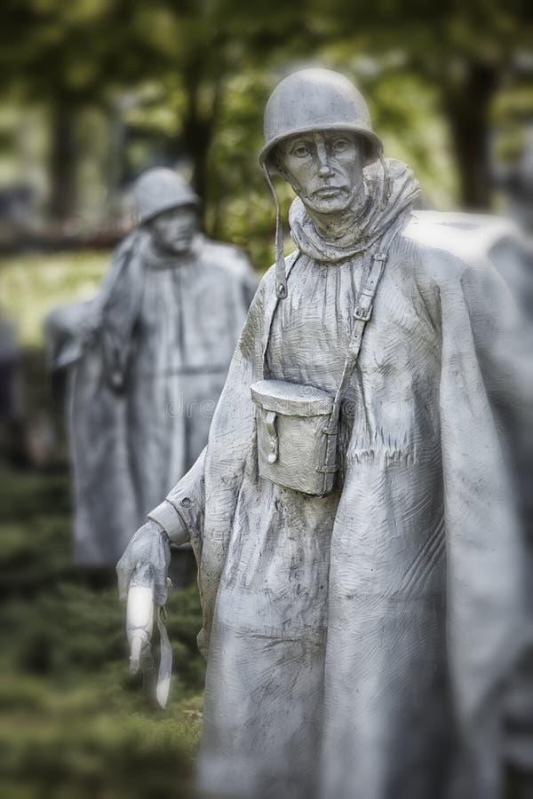 Soldat för koreanskt krig arkivbild