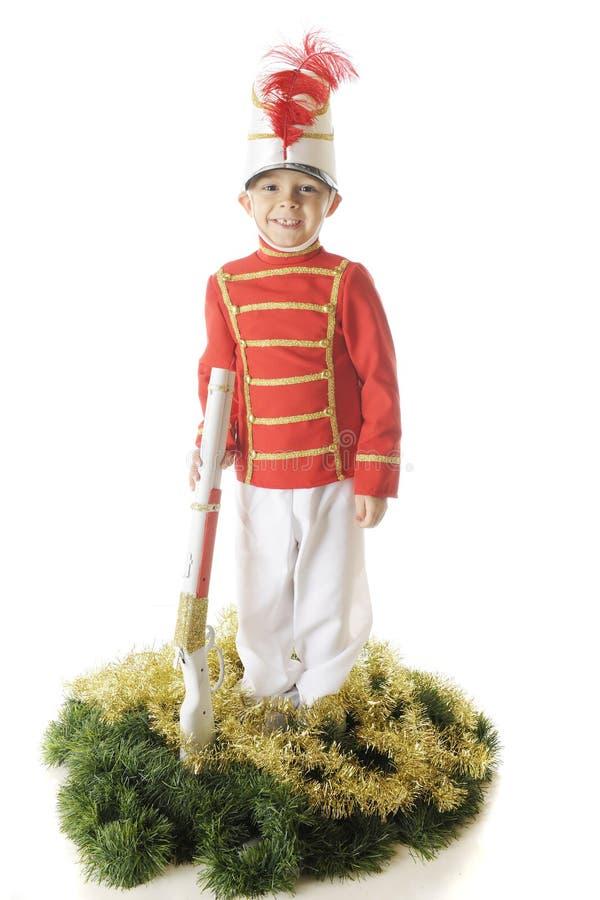 Soldat för lycklig jul arkivfoton