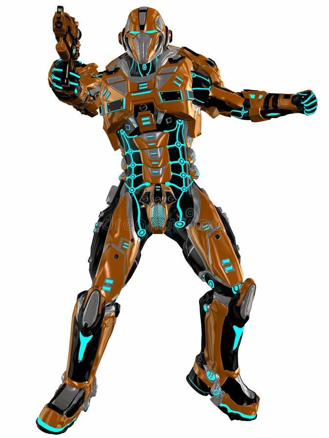 Soldat futuriste illustration de vecteur