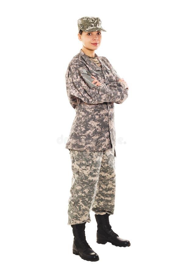 Soldat i den militära likformign royaltyfri bild