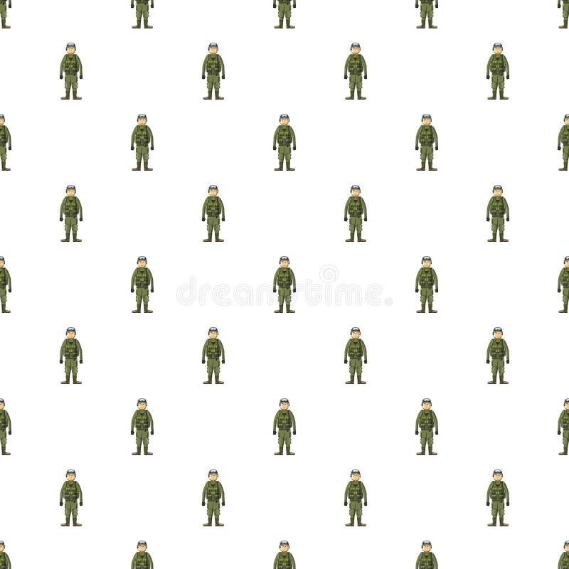 Soldat i modell för kroppharnesk vektor illustrationer