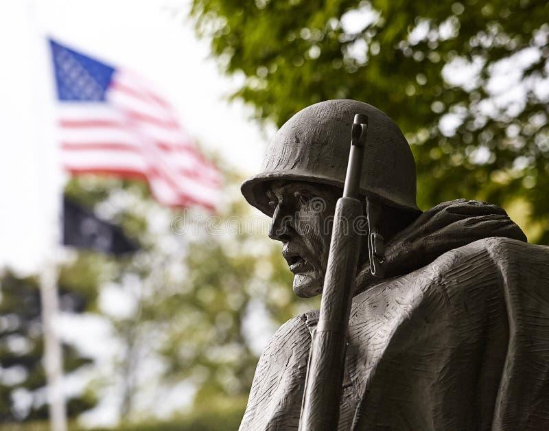 Soldat am koreanischen Denkmal lizenzfreies stockfoto