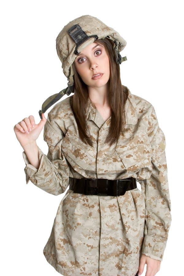Soldat-Mädchen stockbild