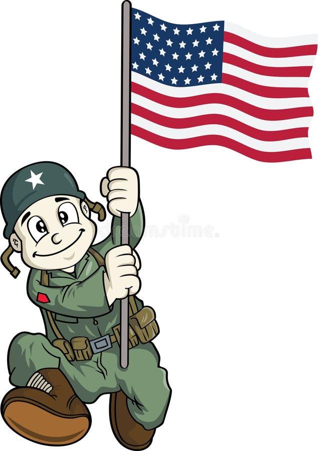 Soldat mignon illustration de vecteur